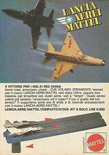 X7538 Lancia aerei Mattel - Pubblicità 1977 - Vintage Advertising