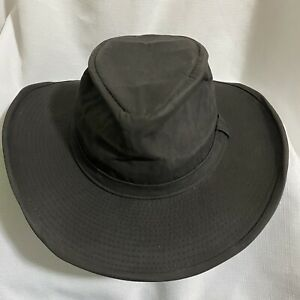 Australian Outback Collection Hat Classic Cotton Oilskin Rain Bucket Sz Small