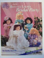 Wedding  Bridal party bottle ladies crochet pattern bride maid of honor