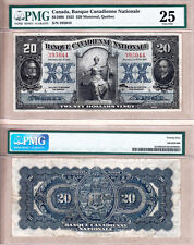 Scarce 1925 $20 Banque Canadienne Nationale Large Size PMG Very Fine 25