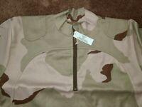 USN Frog Flame Resistant Inclement Weather Combat Shirt Desert Camo Navy Size ML