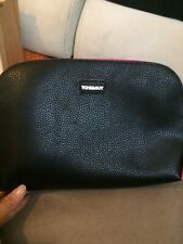 Tony&Guy Purse ,make Up Bag New Leather Black And Pink