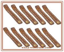 """Wholesale Set of 12  YING YANG Wooden Incense Burners Ashcatchers (Dozen) 10"""""""