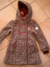 (852) Nolita Pocket Girls Winterjacke Mantel in A-Form Aufnähern & Kapuze gr.110