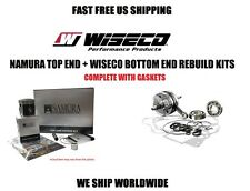 NAMURA TOP END PISTON KIT + WISECO CRANKSHAFT BOTTOM END REBUILD KIT 85-03 KX60