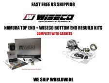 NAMURA TOP PISTON KIT + WISECO CRANKSHAFT BOTTOM END REBUILD KIT 92-2 CR80R CR80