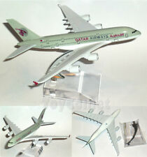 QATAR AIRWAYS Airbus A380 Airplane 16cm DieCast Plane Model