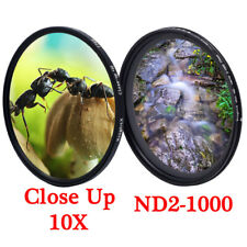 Close Up 10+ ND2-ND1000 Variable ND Filter 52mm 58mm 67mm 77mm Camera Lens ND400