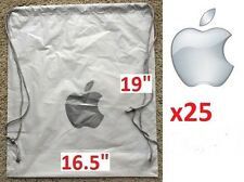 "Lot: 25 NEW Authentic APPLE Drawstring Bags 16.5x19"" Backpack Style fits MacBook"