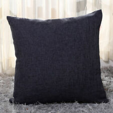 Vintage Cotton Linen Pillow Case Sofa Waist Throw Cushion Solid Cover Home Decor
