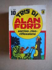 ALAN FORD Tris di Alan Ford n°10 ed. Corno (comprende 103-104-105 ) [G634] BUONO