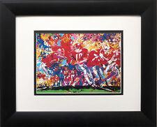 """Alabama Handoff '74 '"" LeRoy Neiman NEW Custom Framed Art Crimson Tide Football"