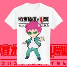 New The Disastrous Life of Saiki Kusuo T-Shirt Short Sleeve Causal Top Unisex
