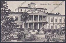NOVARA ROMAGNANO SESIA 63 VILLA CACCIA Cartolina viagg. 1910 Foto CARCANO