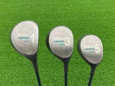 NICE Wilson Golf 1200 LT Metal Head Womens 1 3 5 WOOD SET Right RH Steel LADIES