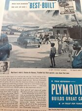 N1-6 Ephemera 1940s Ww2 Advert Plymouth Chrysler Cars J Gaston De Gannes