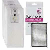 6 Kenmore O/U HEPA Bags 53294 + 1 Kenmore EF-1 Filter 86889 5068 50690 50688 OEM
