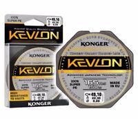 150m SPULE KONGER KEVLON X4 BLACK GEFLOCHTENE SCHNUR ANGELSCHNUR 0,06-0,25mm BF