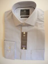 "M&S COLLECTION PURE COTTON PERFORMANCE MEN'S SHIRT TAILORED FIT 14.5"" RRP £29.50"