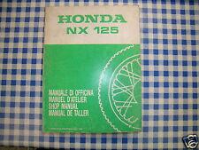 BB 66KAY000 Manual De Taller HONDA NX 125 ED 1989