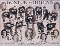 NHL 1926 - 27 Boston Bruins Team Photo Black & White 8 X 10 Photo Picture