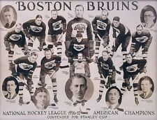1926 - 27 Boston Bruins Team Photo Black & White 8 X 10 Photo Free Shipping