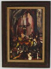 Joachim Probst 'Motif' Oil on Masonite 1966 Charmel Collection