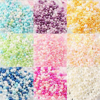 500Pcs Colorful Resin Glass Pearl Spacer Loose Beads For Jewelry Making(No Hole)