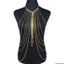 Gold Belly Beach Harness Slave Necklace Women Body Chain Jewelry Bikini Waist