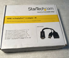 NEW STARTECH.COM HD2DP HDMI TO DISPLAY PORT DP ADAPTER - 4K