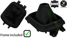 GREEN STITCH LEATHER MANUAL GEAR GAITER +PLASTIC FRAME FOR MAZDA CX5 CX-5 12-16
