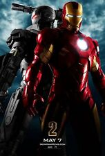 """Marvel IRON-MAN 2 2010 Advance Teaser DS 2 Sided 27x40"""" Movie Poster R Downey Jr"""