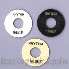 Les Paul guitar Pickup Selector Switch RHYTHM TREBLE RING PLATE BLACK/IVORY