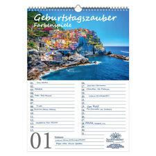 Geburtstagsplaner Geburtstagskalender Farbenzauber DIN A3 Kalender Farben Colour