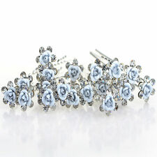 Lots Wedding Bridal Pearl Flower Crystal Hairpin Hair Pins Clips Accessories