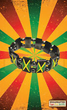 Giamaica Ematite espandibile da polso banda radici Raste One Love