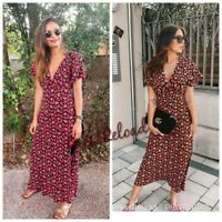 ZARA NEW PRINTED LONG DRESS SIZE XXL