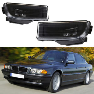 For BMW E38 740i 740il 750il 1995-2001 Pair Fog Light Driving Lamps Clear Lens