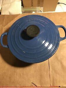 Le Creuset #18 Sauce Pot blue Cast Iron Enamel