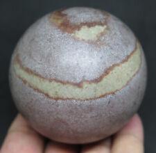63mm 12.3OZ Natural SHIVA LINGAM Lingham Stone CRYSTAL Sphere Ball
