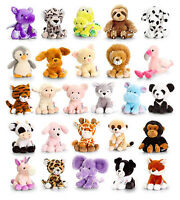 KEEL 14cm PIPPINS SOFT TOYS - NEW WITH TAG FULL RANGE DOGS JUNGLE CATS FARM