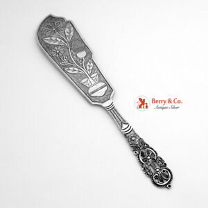 South American Openwork Floral Scroll Serving Knife 900 Silver 1930