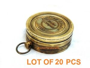 Lot of 20 Pieces Nautical Antique Brass dollond London Pocket Gift Compass