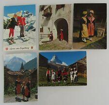 Postkarten Lot Schweiz 5 x AK mit Personen in Tracht, Trachten, Kinder, Suisse