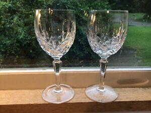 "Set of 2 Gorham Lady Anne Crystal Wine Glass  6 7/8"" x 2.50"""