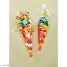 Candy Holiday ~20~ Gift Treat Bags Party Cellophane Cone Large Size Plastic 12""