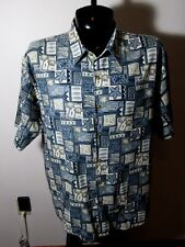 Men's SUMMA Pewter Short Sleeve Silk Shirt Size XXL NWOT