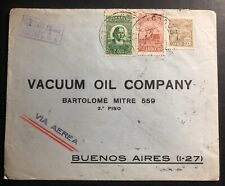 1931 Pernambuco Brazil Commercial Cover To Vacuum Oil Buenos Aires Argentina