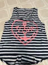 Womens Charlotte Russe Aloha Anchor Striped Tank Top Large