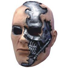 T-600 Terminator Salvation Mask Kids Cyborg Halloween Fancy Dress Costume